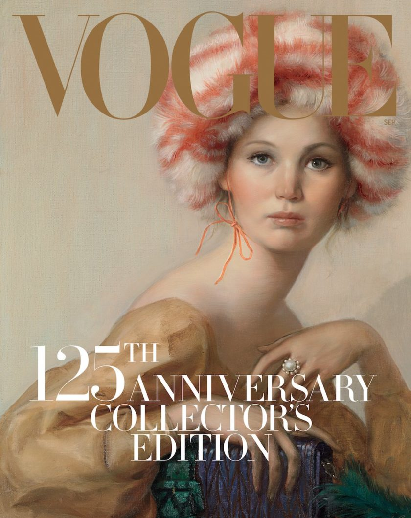 Portada revista Vogue September Issue Jennifer Lawrence retratada por John Currin   EstiloMarqués