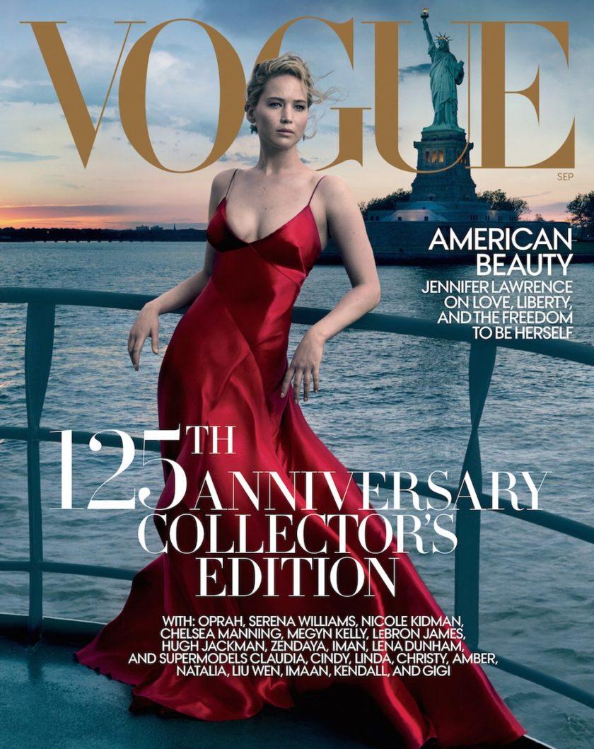 Portada revista Vogue September Issue Jennifer Lawrence fotografiada por Annie Leibovitz   EstiloMarqués